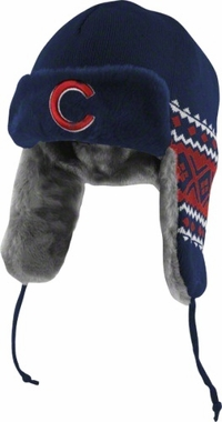 Chicago Cubs New Era Team Trapper Knit Trooper Hat