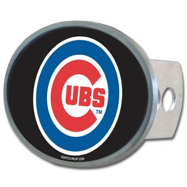 Chicago Cubs Oval Metal Hitch Cover