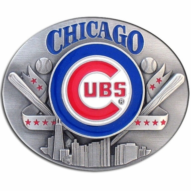 Chicago Cubs Enameled Belt Buckle