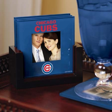 Chicago Cubs Photo Coaster Set