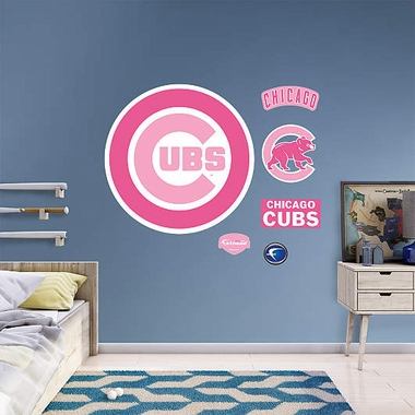 Chicago Cubs Pink LogoFathead Wall Graphic
