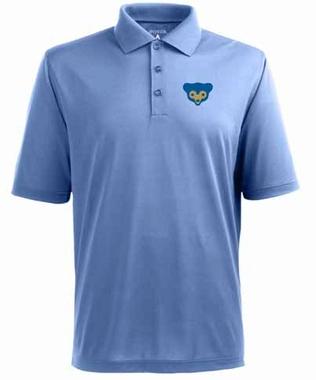 Chicago Cubs Mens Pique Xtra Lite Polo Shirt (Cooperstown) (Team Color: Aqua)