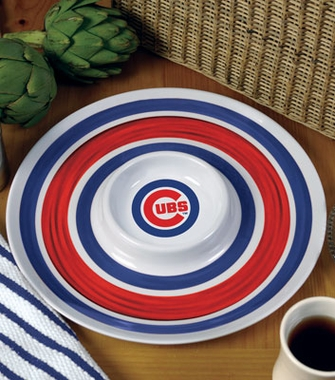 Chicago Cubs Plastic Chip and Dip Plate