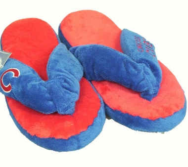 Chicago Cubs Plush Thong Slippers