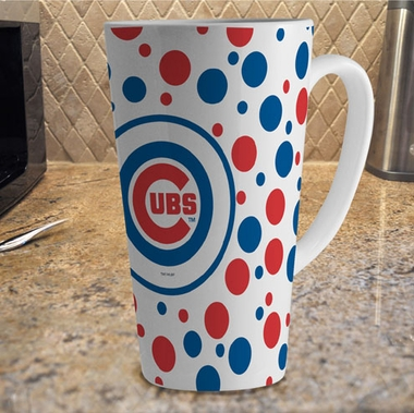 Chicago Cubs Polkadot 16 oz. Ceramic Latte Mug