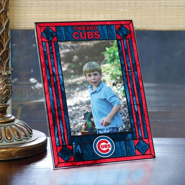 Chicago Cubs Portrait Art Glass Picture Frame