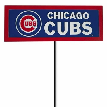 Chicago Cubs Resin Garden Sign With Stake