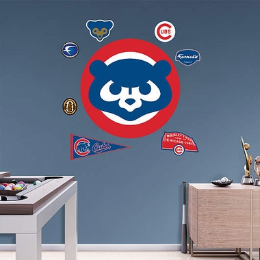 Chicago Cubs Retro Logo Fathead Wall Graphic
