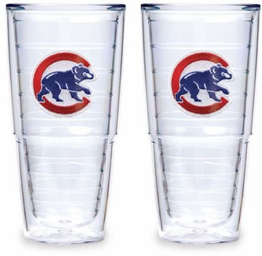 "Chicago Cubs (Retro) Set of TWO 24 oz. ""Big T"" Tervis Tumblers"