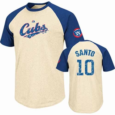 Chicago Cubs Ron Santo Cooperstown All Star Player Raglan Premium T-Shirt