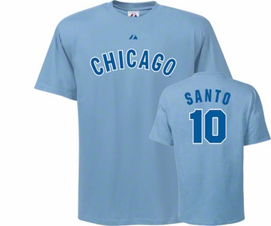 Chicago Cubs Ron Santo Name and Number T-Shirt