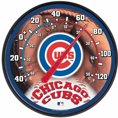Chicago Cubs Round Wall Thermometer