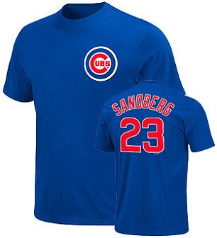 Chicago Cubs Ryne Sandberg Name and Number T-Shirt