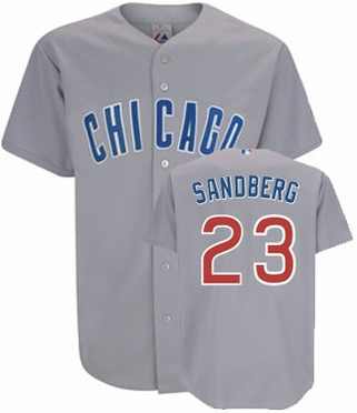 Chicago Cubs Ryne Sandberg Replica Throwback Jersey (Road)