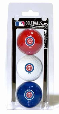 Chicago Cubs Set of 3 Multicolor Golf Balls