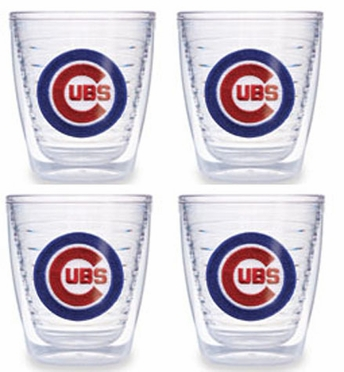 Chicago Cubs Set of FOUR 12 oz. Tervis Tumblers