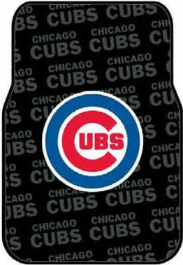 Chicago Cubs Set of Rubber Floor Mats