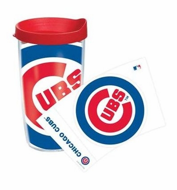 Chicago Cubs Set of TWO 16 oz. Tervis Wrap Tumblers w/ Lids