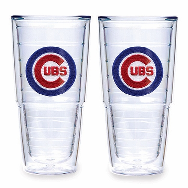 "Chicago Cubs Set of TWO 24 oz. ""Big T"" Tervis Tumblers"