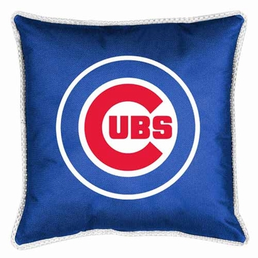 Chicago Cubs SIDELINES Jersey Material Toss Pillow