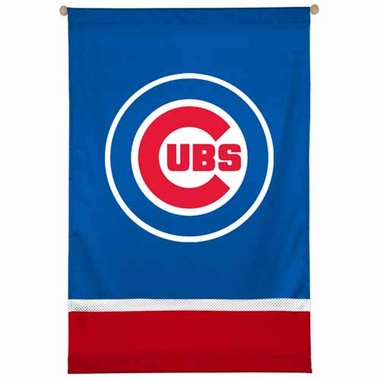 Chicago Cubs SIDELINES Jersey Material Wallhanging