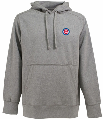 Chicago Cubs Mens Signature Hooded Sweatshirt (Color: Gray)