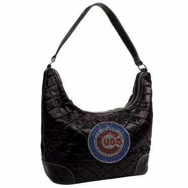 Chicago Cubs Sport Noir Quilted Hobo
