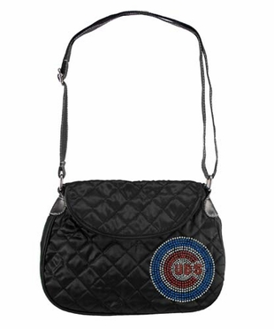 Chicago Cubs Sport Noir Quilted Saddlebag