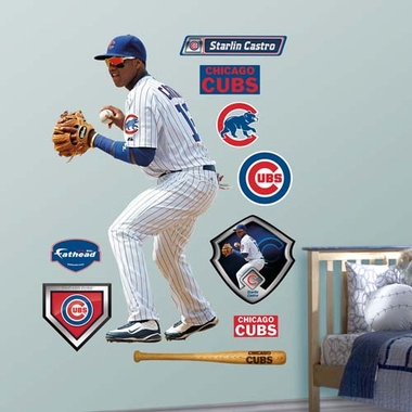Chicago Cubs Starlin Castro Fathead Wall Graphic