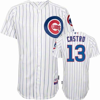 Chicago Cubs Starlin Castro YOUTH Replica Jersey - Pinstripe