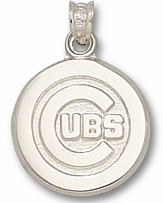 Chicago Cubs Sterling Silver Pendant