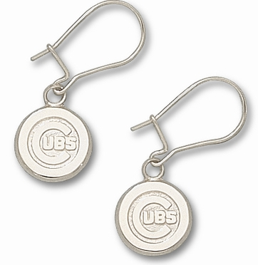 Chicago Cubs Sterling Silver Post or Dangle Earrings