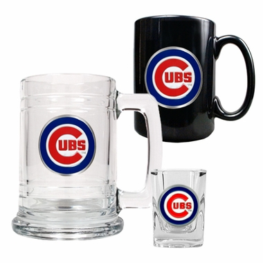 Chicago Cubs Tankard, Coffee Mug and Shot Glass Set