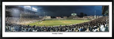Chicago Cubs The Friendly Confines Framed Panoramic Print