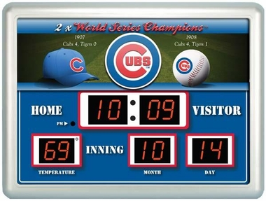 Chicago Cubs Time / Date / Temp. Scoreboard