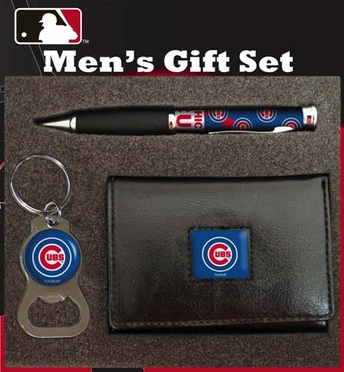 Chicago Cubs Trifold w/Pen & Keychain Gift Set