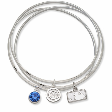 Chicago Cubs Triple Bangle Bracelet