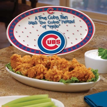 Chicago Cubs True Fan Platter