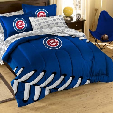 Chicago Cubs Twin Comforter and Shams Set