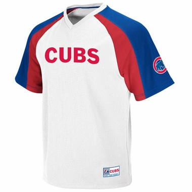 Chicago Cubs V-Neck Crusader Jersey (White)