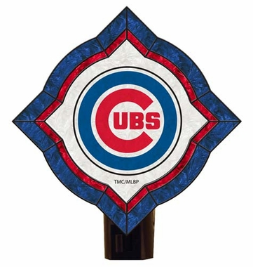 Chicago Cubs Vintage Art Glass Nightlight