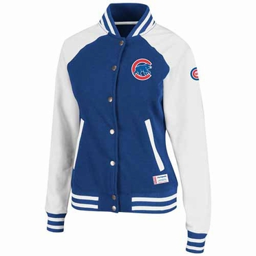 Chicago Cubs Women's Pumped Up Varsity Jacket