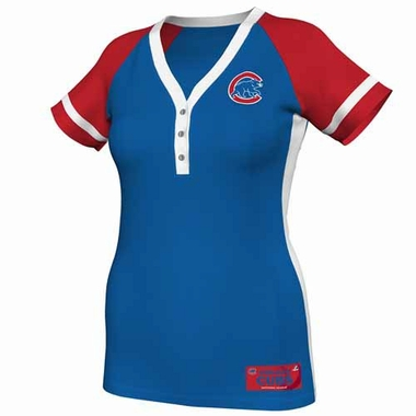 Chicago Cubs Womens League Diva Fashion Top Shirt - Royal