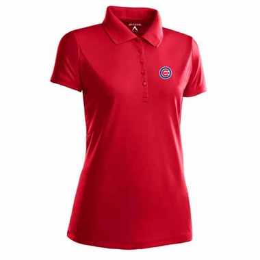 Chicago Cubs Womens Pique Xtra Lite Polo Shirt (Color: Red)