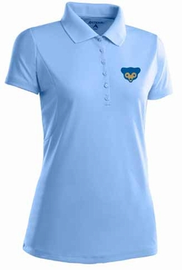 Chicago Cubs Womens Pique Xtra Lite Polo Shirt (Cooperstown) (Team Color: Aqua)