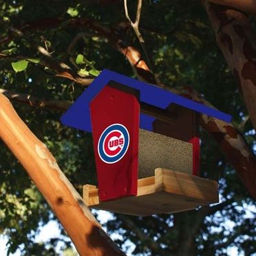 Chicago Cubs Wood Birdfeeder Kit