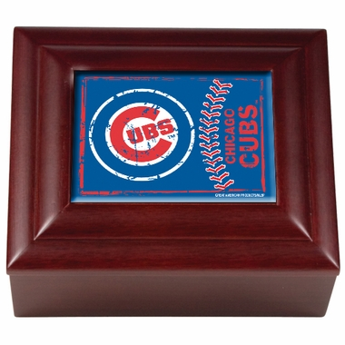 Chicago Cubs Wooden Keepsake Box