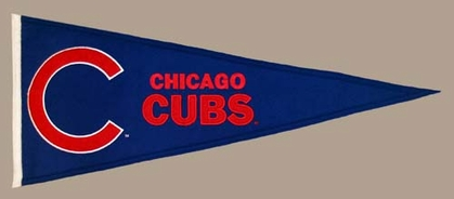 Chicago Cubs Wool Pennant