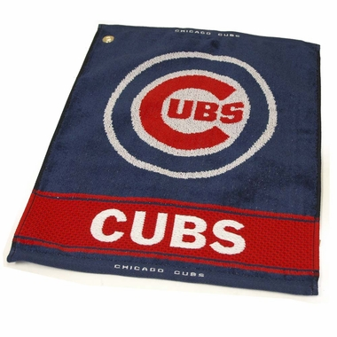Chicago Cubs Woven Golf Towel