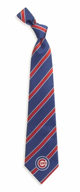 Chicago Cubs Woven Poly 1 Necktie